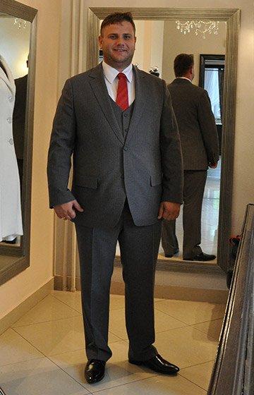 82e816ff9 Suknia dla puszystej Garnitur dla dużego Pana ...